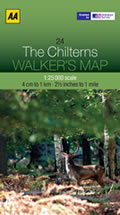 Chilterns 1:25,000 Map
