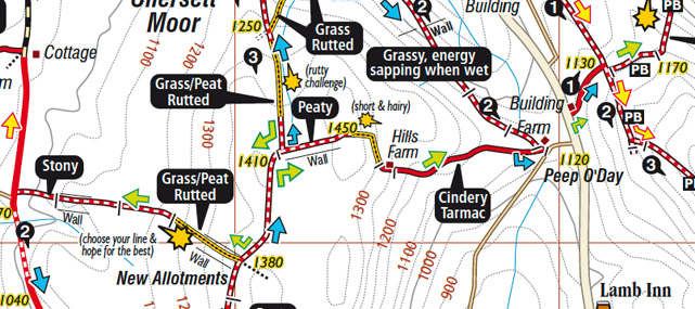 Hayfield MTB Map Extract