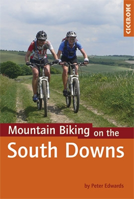 South Downs mountain biking book by Peter Edwards