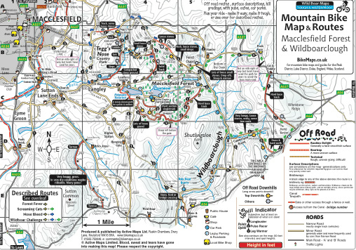 Macclesfield Forest mtb map side