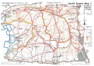 South Downs MTB Map 1