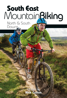 mountain biking on the north and south downs, route guide book, south east england