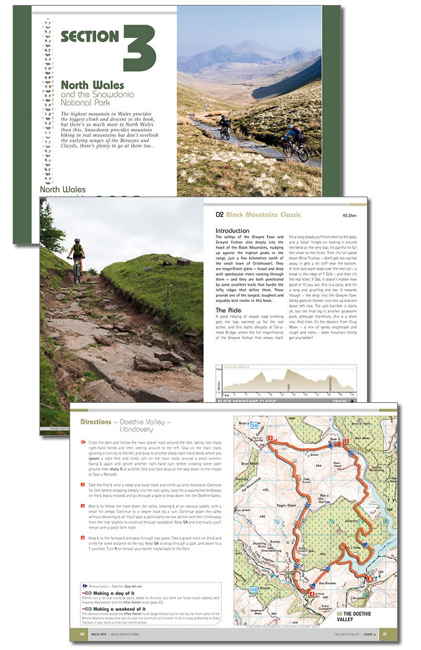 Wales mountain biking route pages