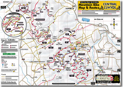 clwyds mountain bike routes map