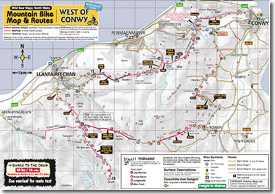Conwy mountain biking map